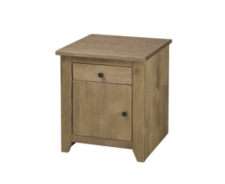 Brazilian solid wood 1 Drawer/1 Door Bedside Cabinet
