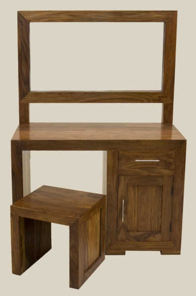 Cube Dressing Table + Mirror + Stool