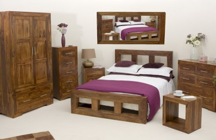 Cube Bedroom Solid Wood Bed