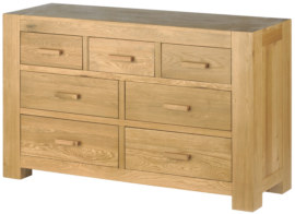 Mews Solid Oak 3 Over 4 Chest of Drawers