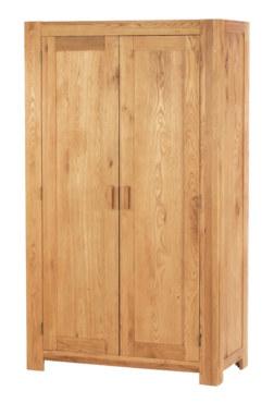 Mews Solid Oak Full Hanging Wardrobe