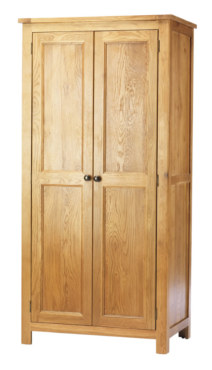 Dublin Solid Oak Solid Oak 2 Door Wardrobe
