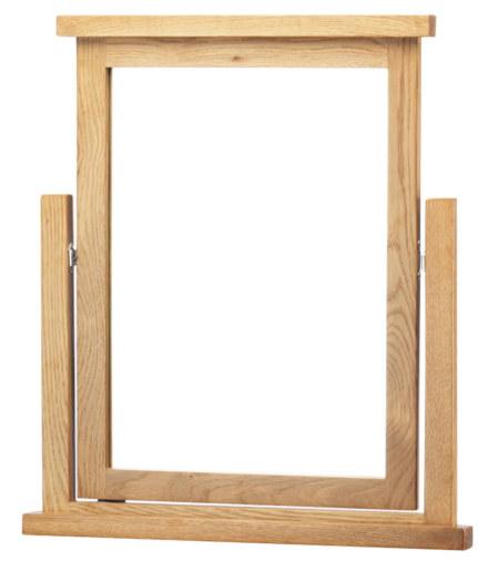 Dublin Solid Oak Solid Oak Vanity Mirror