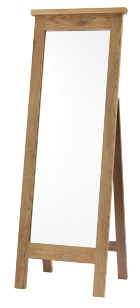 Dublin Solid Oak Solid Oak Cheval Mirror