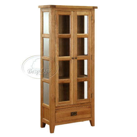 Vancouver Petite Solid Oak Glazed Display Cabinet