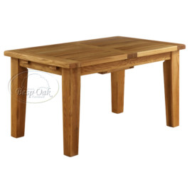 Vancouver Petite Solid Oak Extension Dining Table