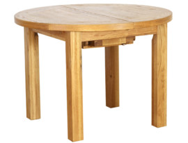 Vancouver Petite 3ft 7inch Extending Round Dining Table