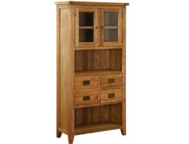 Vancouver Petite Oak Display Cabinet