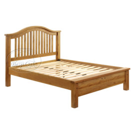 Vancouver Premium Solid Oak Curved Low End bed