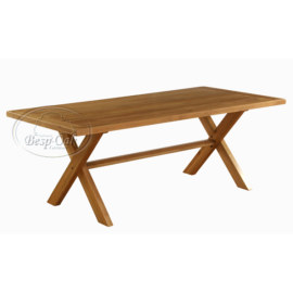 Vancouver Premium Solid Oak Fix Top Dining Table with Cross Leg