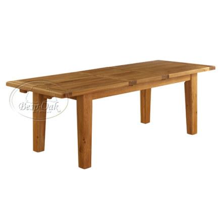 Vancouver Premium Solid Oak Extension Rectangular Table