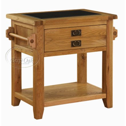 Vancouver Premium Solid Oak Small Kitchen Unit with Granite Top 1 drawer 1 shelf