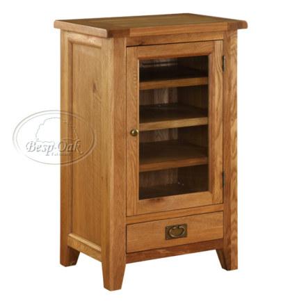 Vancouver Premium Solid Oak Hi-Fi Unit with 3 Adjustable Shelves