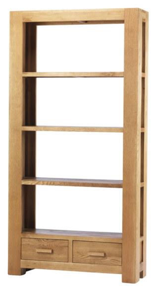 Mews Solid Oak Large Bookcase