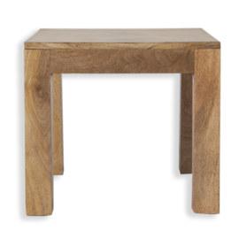 Cube Petite Mango Lamp Table