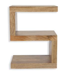 Cube Petite Mango 'S' Shaped Shelving Unit