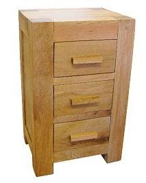 Mews Solid Oak Large Bedside Cabinet