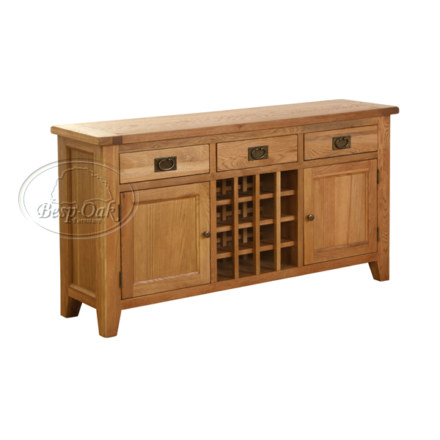 Vancouver Petite Solid Oak  Drawer 2 Door Wine Table
