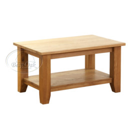 Vancouver Petite Solid Oak Rectangular Coffee Table