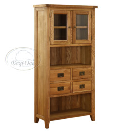 Vancouver Petite Solid Oak Display Cabinet