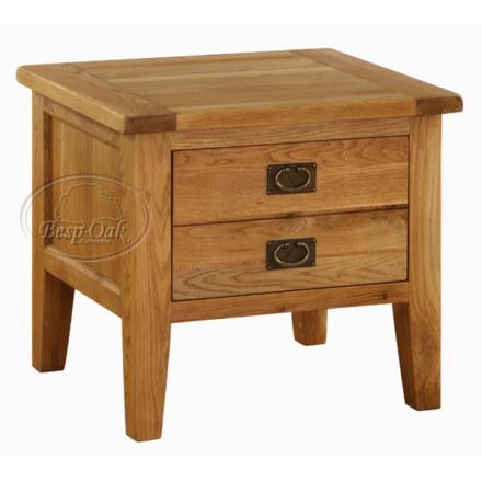 Vancouver Premium Solid Oak 1 Drawer Lamp Table
