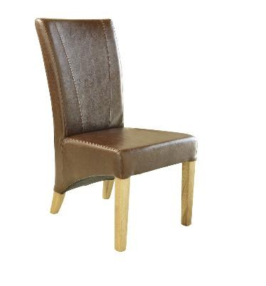 Windsor Leather Chair with Oak Frame (chocolate Brown)