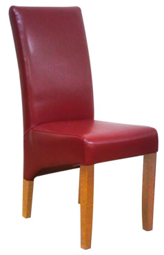 Bonded Leather Chair – Bordeaux with Antique Legs