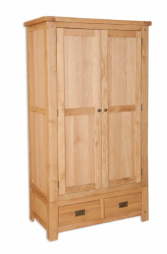 Melbourne Natural 2 door 2 drawer Wardrobe
