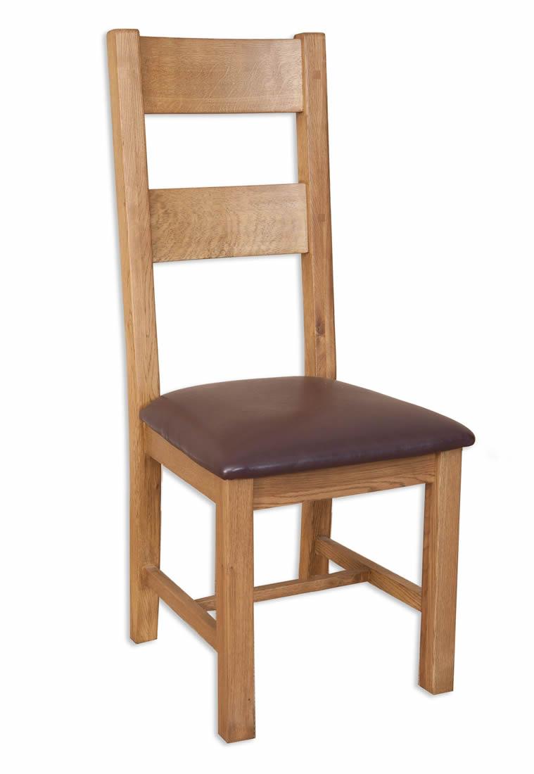 Melbourne Country Oak Solid Oak Ladder Back Dining Chair