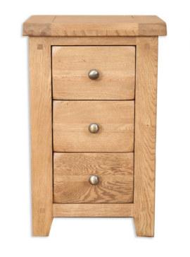 Melbourne Country Solid Oak 3 Drawer Bedside Cabinet