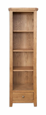 Melbourne Country Oak Tall and Slim Medium Size Bookcase
