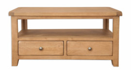 Melbourne Country Oak Tv Stand Coffee Table With Drawers