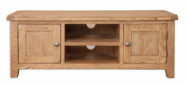 Melbourne Country Oak Widescreen TV DVD HiFi Cabinet Unit