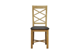 Wansford Double Cross Back PU Seat Chair