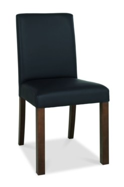 Akita Square Back Brown Faux Leather Dining Chair