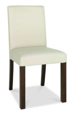 Akita Square Back Ivory Faux Leather Dining Chair