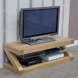 Z Oak Flat Screen TV Stand