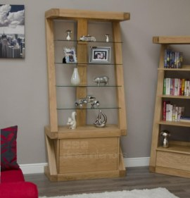 Z Oak Display Cabinet