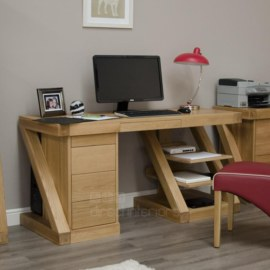 Z Oak Large Computer Desk