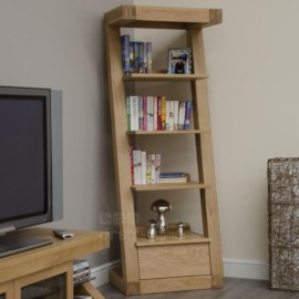 Z Oak Narrow Bookcase
