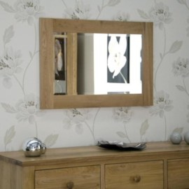 Z Oak Small Mirror