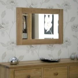 Z Oak Small Mirror