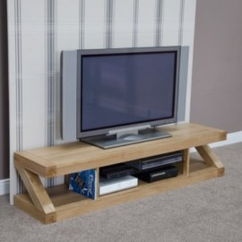 Z Oak Wide Screen Tv Stand