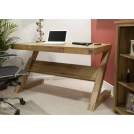 Z Oak Work Station Desk