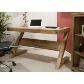 Z Oak Work Station Desk