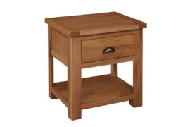 Kent Solid Oak 1 Drawer Lamp Table