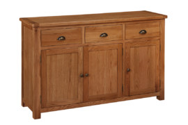 Kent Solid Oak 3 Door 3  Drawer Sideboard