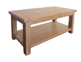 Barcelona Solid Oak Coffee Table