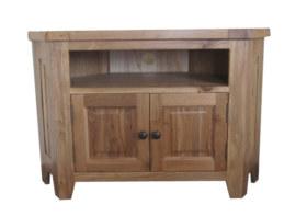 Barcelona Solid Oak Corner TV Cabinet