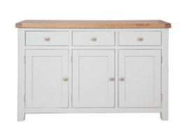 Melbourne French Grey 3 Door Sideboard